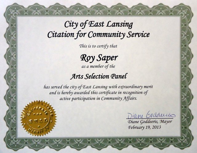 Saper Galleries And Custom Framing Full Service Award