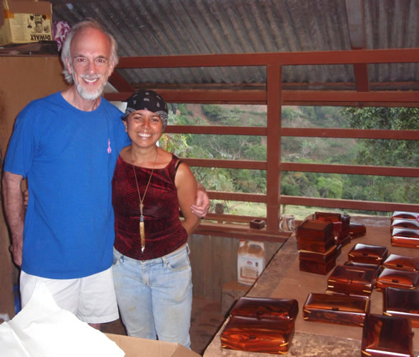 Roy with                   Costa Rican artist