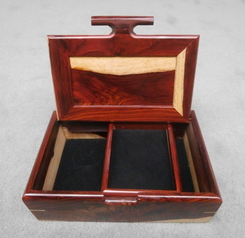 Large box with tray