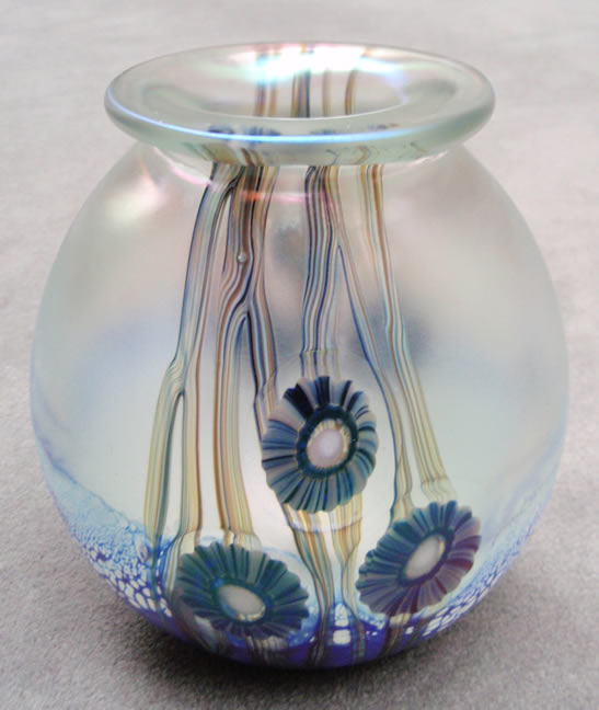 Seascape                     Iridescent Pillow Vase