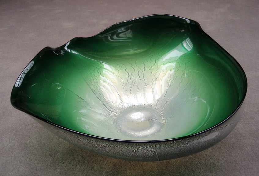 David Thai hand-blown glass bowls